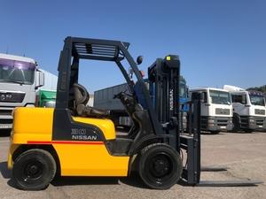 Дизельный погрузчик навантажувач Nissan на 3 тонны с позиционером вил - Изображение #2, Объявление #1696552