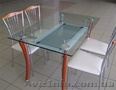 мебель из стекла,  столы и стулья
