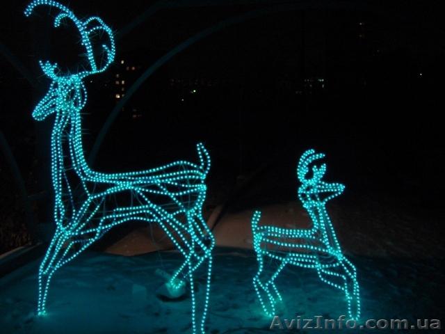 Как сделать светящегося оленя