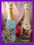 Декор шампанского к Новому году