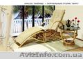 кресла майами из ротанга с подставкой для ног