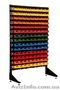 Стеллаж для магазина с ящиками на 126 контейнеров ящиков