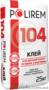Клей для плитки,  керамогранита и тёплых полов Polirem 104